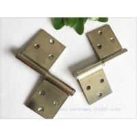 "Quality Bright Color 3"" Brass Lift Off Hinges Zinc Plated Metal Material  1.0mm Thickness for sale"