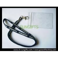 Quality Plastic clear soft card holder with customized lanyard combo for sale