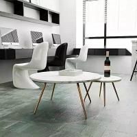 Quality Simple Marble Stone Countertops Round Square Dining Table Tops For Hospitality Furniture for sale