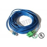 Best Dark Blue Jacket , LC - SC Connector Fiber Patch Cord , SM OS2 BI , 2 Fiber Zip 2mm OFNR wholesale