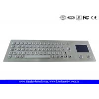 Best Rugged Metal Industrial Panel Mount Keyboard With Touchpad IP65 Waterproof wholesale