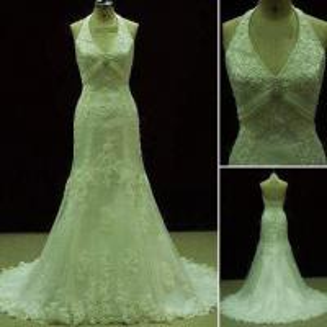 China Lace Wedding Gown, Wedding Dress, Bridal Dress, Swarovski Crystals Decorated on sale