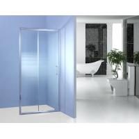 China Fixed Glass Sliding Shower Door 700MM 90 Degree Magnetic Type Shower Surround Panels on sale