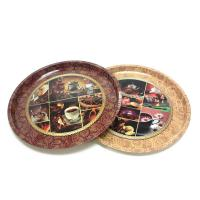Quality premium round serving tin trays for sale