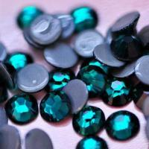 Hot Fix Rhinestone, Emerald, Top Quality