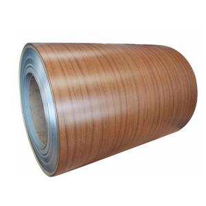 Quality PVDF Wood Grain Aluminium Coated Coil For Construction for sale