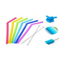 Buy cheap Smoothie Reusable Silicone Drinking Straws Environmentally Friendly FDA Approval from wholesalers