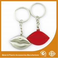 Quality Silver Plated Custom Shaped Keychain Personalised Lips Keychain for sale