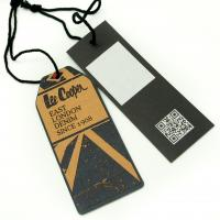 Buy Tide Brand Clothing Hang Tags With String , Custom Printed Logo Swing Tags at wholesale prices