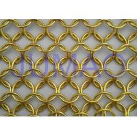 Quality Malleable U Track Metal Ring Curtain, Modern Styles Bronze Chainmail Curtain for sale