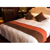 China 4 5 Star Hotel Bed Runners Decorative For King Or Queen Size on sale