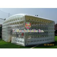 Best Closed Airtight Tent / Inflatable Cube Tent Flexible To Move Environmental Protection wholesale