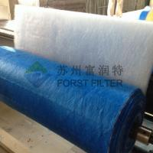 FORST  Floor Fiberglass Furnace Filters Green white Pre Paint Spray Filter 20m Length manufacturers