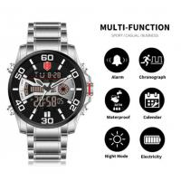 Buy cheap Fashion Sport Watch Men Quartz Digital Mens Watches Top Brand Luxury Waterproof from wholesalers