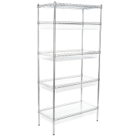 """Quality Standing Stainless Steel Solid Shelving , 180kgs 18x36"""" 5 Tier Wire Shelving for sale"""