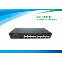Best Single 10gb Fiber Optic Switch 1 Port SFP Slot 100BASE - Fx 16Port 10 / 100BASE - Tx wholesale