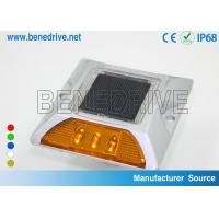 Quality Passive Solar Road Studs 3 Pcs LEDs Reflective Highway Markers for sale