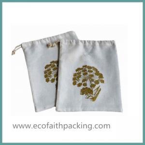 China small cotton drawstring gift bag, cotton drawstring promotional bag on sale