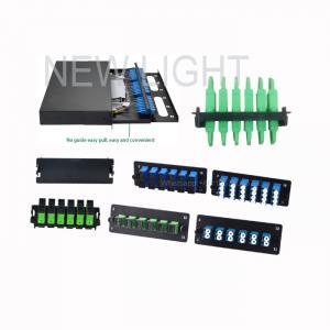 Quality 1U / 2U / 3U / 4U LGX Fiber Panels / High Density Patch Panel To Patch Panel for sale