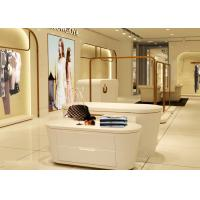 China Beautiful White Color Retail Clothing Fixtures For Lady Clothing Display on sale