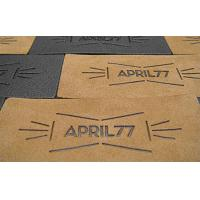Quality printing PU patch with rivets for sale