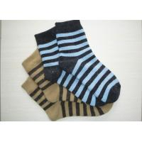 Best Comfortable Pithiness Striped Wool Socks Novelty With Hand Link wholesale