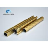 Buy Standard Polishing Golden Extruded Aluminum Framing For Decoration GB5237.1-2008 at wholesale prices