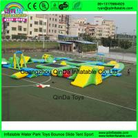 Custom design outdoor adults giant inflatable floating water park for open water entertainment from Guangzhou