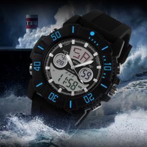 Quality Unisex Analog Digital Wrist Watch With El Backlight Rotating Bezel for sale