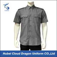 Short Sleeve Security Guard Shirts , Men's Work Shirts With Functional Pockets