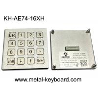 Buy cheap 4x4 Layout Waterproof Industrial PC Keyboard Matrix / USB Port For Kiosk / Fuel / Gas Station from wholesalers