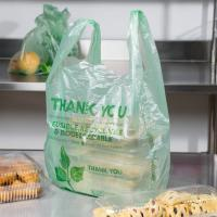 China Biodegradable Green T Shirt Shopping Bags HDPE Material With 1 / 6 Size on sale