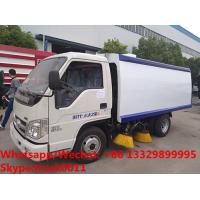 China HOT SALE! customized good price Forland 4*2 RHD 108hp smaller diesel road sweeper truck, street sweeping vehicle on sale