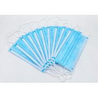 Quality Meltdown Fabric Disposable Face Mask With Earloop Anti Covid 19 3 Layer Protection for sale