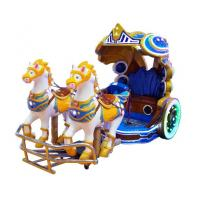 China Amusement Park Kids Electric Animal Horse Ride Shopping Mall Battery Operated Horse Carriage on sale