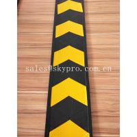 China Reflective Garage Parking Safety Wall Protector Rubber Corner Guards with Direction on sale