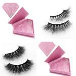 Quality Private label mink eyelashes strip lashes with custom eyelash box for sale
