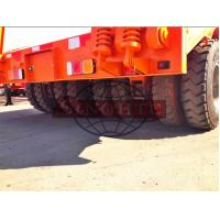 Quality 2x2 50 T Low Loader Semi Trailer , 2 Line Four Axle Heavy Duty Low Bed Trailers for sale