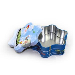 Quality Premium Gift Plum-Blossom Shape Tin for sale