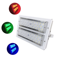 Quality 5 Years Warranty Aluminum Housing RGB LED Flood Light 80W For Stage Plaza color decoration for sale