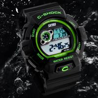 Quality Outdoor Multifunction Sport Watch EL Backlight Electronic Water Resistant 50M For Camping and Swimming for sale