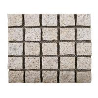 Quality Yellow Natural Paving Stones Cube Custom Surface Finishing 104hsd Hardness for sale