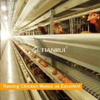 Quality Tianrui Design 6 Tiers Hot Dip Wire Mesh H Type Chicken Layer Cages for Sale for sale