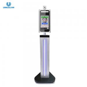 """Quality Stainless Steel 8"""" Time Attendance Facial Recognition Thermometer for sale"""