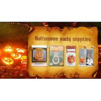 Quality Die Cut Cellophane halloween treat bags Handle For Hallowmas Party for sale