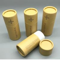 Quality eco-friendly custom logo printed kraft paper cylinder tube box roll edge type packaging box for sale