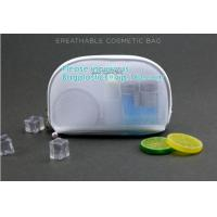 Buy cheap Mesh & PU leather cosmetic bag for promotion beautiful packing,polyester plain from wholesalers