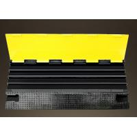 Outdoor Removable Speed Bumps 4 Channels With PVC Flap Yellow Safety Lid
