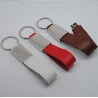 Buy cheap Leather keychain usb with free logo printing from Chinese factory from wholesalers