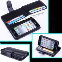 Best Luxury Card Holder Flip Wallet Leather IPhone 5 Protective Case For 5S Black wholesale